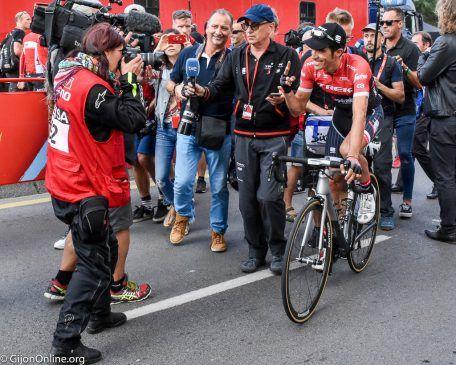 """""""La Vuelta"""" arrived in Gijon"""
