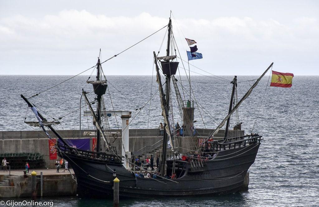Ship Nao Victoria visits Tazones