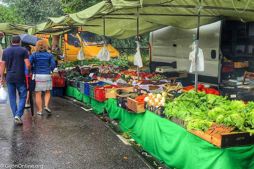 Mercado del Domingo de Gijon